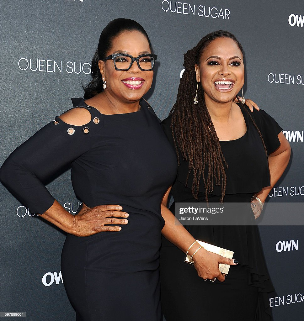 Oprah Winfrey and Ava DuVernay attend the premiere of 'Queen Sugar' at Warner Bros. Studios on August 29, 2016 in Burbank, California.