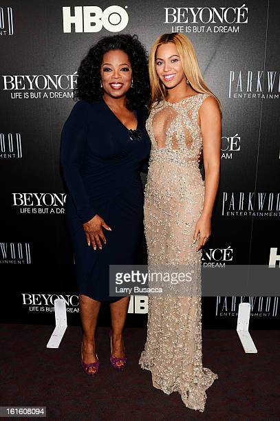 """Oprah Winfrey and Beyonce attend the HBO Documentary Film """"Beyonce: Life Is But A Dream"""" New York Premiere at the Ziegfeld Theater on February 12,..."""