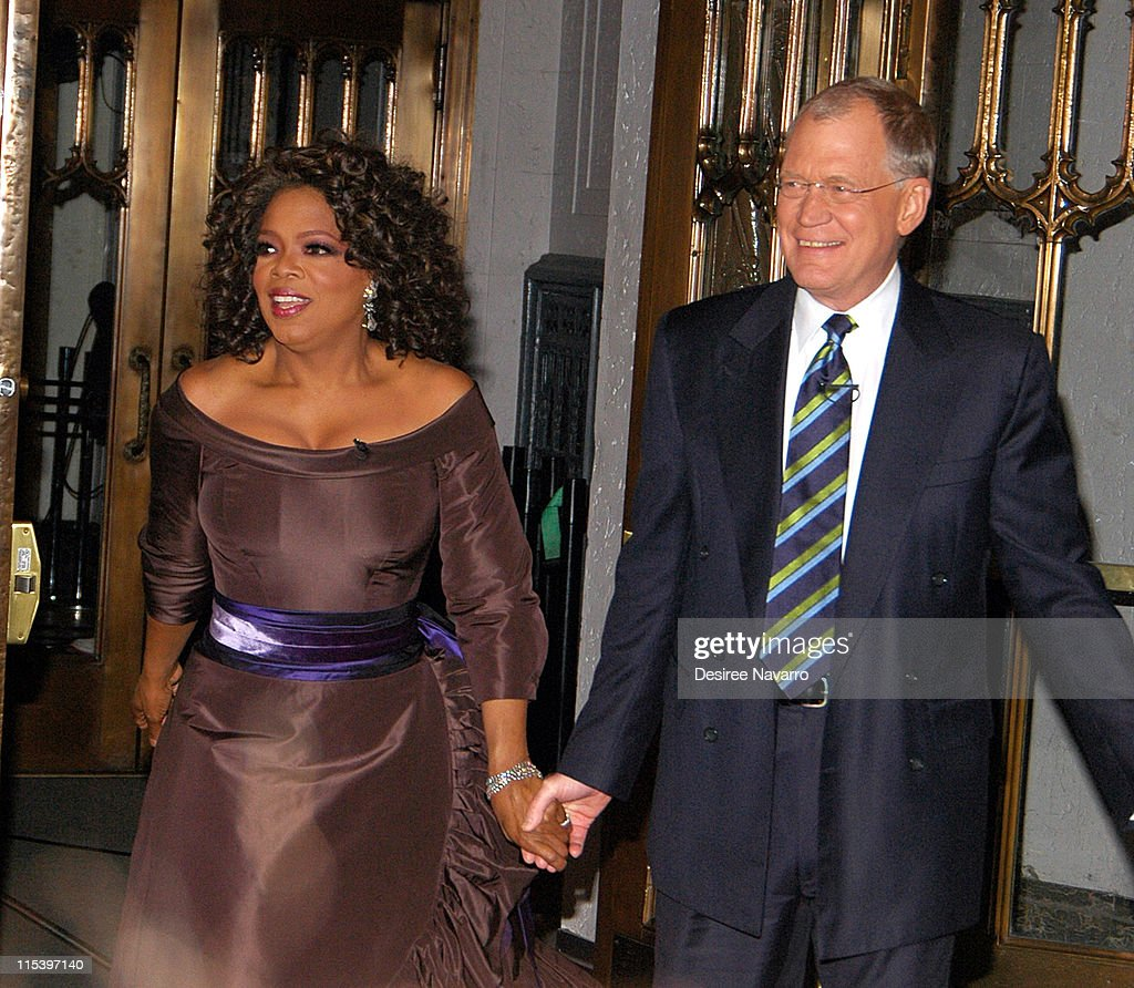Oprah Winfrey and David Letterman during Oprah Winfrey Visits the 'The Late Show with David Letterman' - December 1, 2005 at Ed Sullivan Theater in New York City, New York, United States.