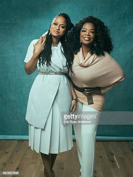 Oprah Winfrey and director Ava DuVernay are photographed for The Hollywood Reporter on February 18 2015 in Los Angeles California