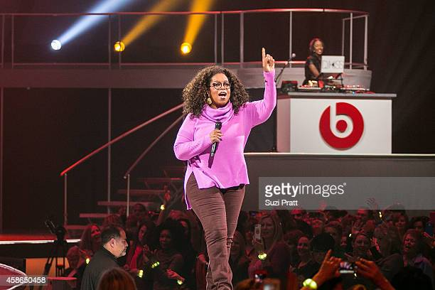 Oprah Winfrey and DJ Kiss on November 8 2014 in Seattle Washington