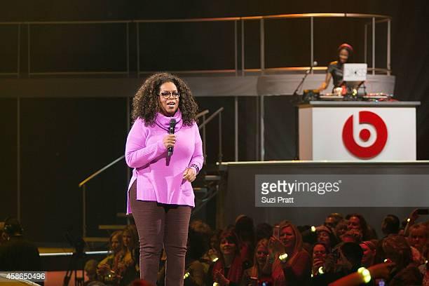 Oprah Winfrey and DJ Kiss on November 8, 2014 in Seattle, Washington.