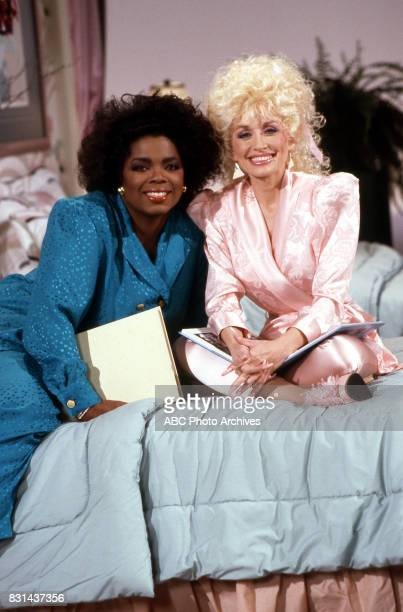 Oprah Winfrey and Dolly Parton on 'Dolly' in 1987