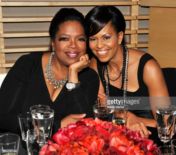 Oprah Winfrey and First Lady Michelle Obama attends the Time's 100 Most Influential People in the World Gala at Rose Hall - Jazz at Lincoln Center on...