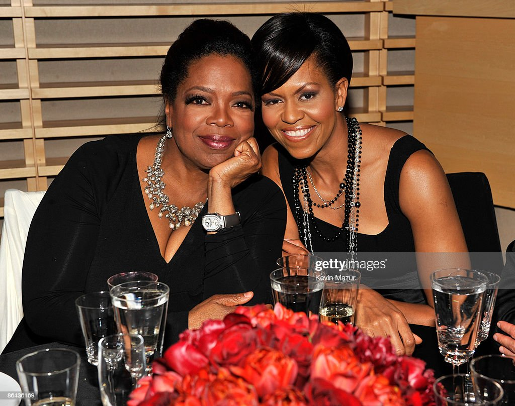 Oprah Winfrey and First Lady Michelle Obama attends the Time's 100 Most Influential People in the World Gala at Rose Hall - Jazz at Lincoln Center on May 5, 2009 in New York City.