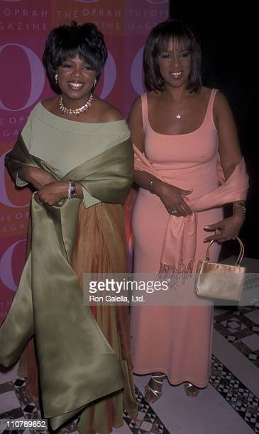 Oprah Winfrey and Gayle King attend First Anniversary Party for O Magazine on April 17 2001 at Cipriani in New York City