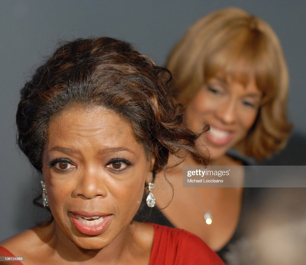 Oprah Winfrey and Gayle King during The Inauguration of The Hearst Tower at The Hearst Tower in New York City, New York, United States.