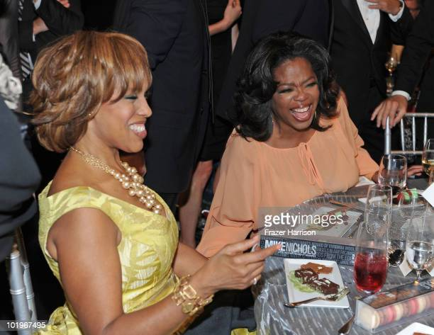 Oprah Winfrey and Gayle King in the audience during the 38th AFI Life Achievement Award honoring Mike Nichols held at Sony Pictures Studios on June...