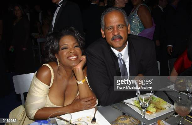 Oprah Winfrey and her partner, Steadman Graham, at the Governor's Ball following the 54th Annual Primetime Emmy Awards at the Shrine Auditorium in...