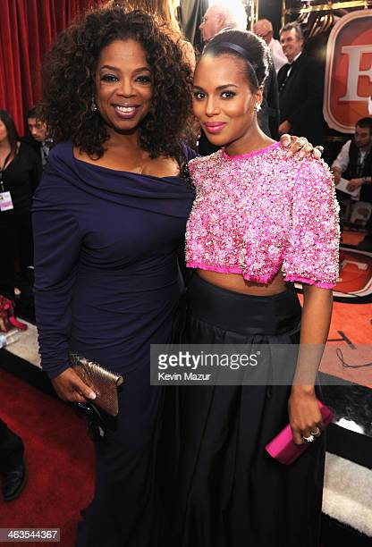 Oprah Winfrey and Kerry Washington attend 20th Annual Screen Actors Guild Awards at The Shrine Auditorium on January 18 2014 in Los Angeles California