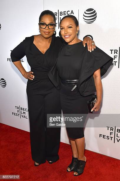Oprah Winfrey and Lynn Whitfield attend the Tribeca Tune In Greenleaf at BMCC John Zuccotti Theater on April 20 2016 in New York City