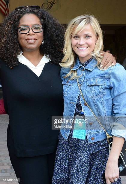 Oprah Winfrey and Reese Witherspoon attend a screening of 'Wild' at the 2014 Telluride Film Festival Day 1 on August 29 2014 in Telluride Colorado