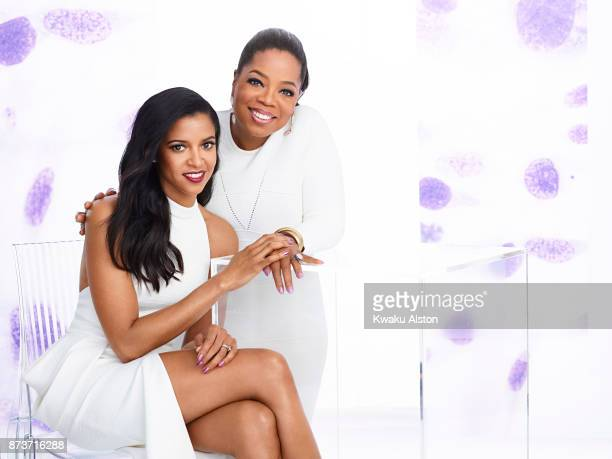 Oprah Winfrey and Renée Elise Goldsberry are photographed for Essence Magazine on January 3 2017 in New York City