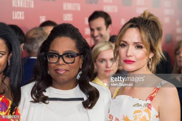 Oprah Winfrey and Rose Byrne attend 'The Immortal Life Of Henrietta Lacks' New York Premiere at SVA Theater on April 18 2017 in New York City