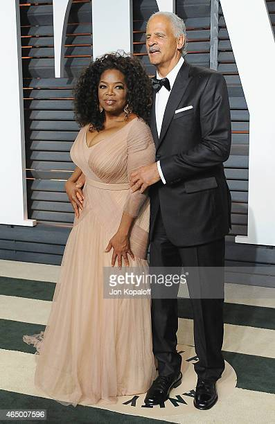 Oprah Winfrey and Stedman Graham arrive at the 2015 Vanity Fair Oscar Party Hosted By Graydon Carter at Wallis Annenberg Center for the Performing...