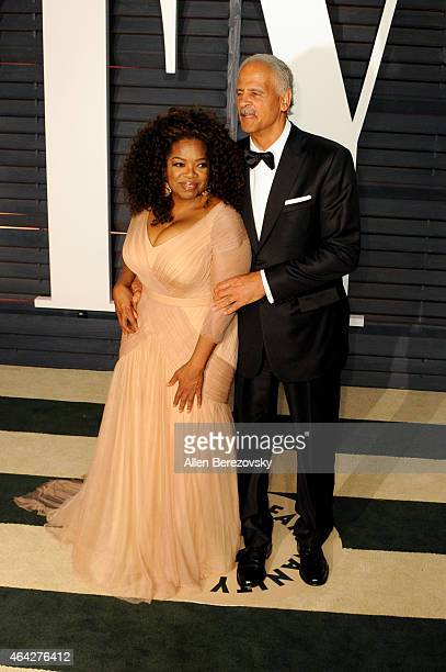 Oprah Winfrey and Stedman Graham attend the 2015 Vanity Fair Oscar Party hosted by Graydon Carter at Wallis Annenberg Center for the Performing Arts...