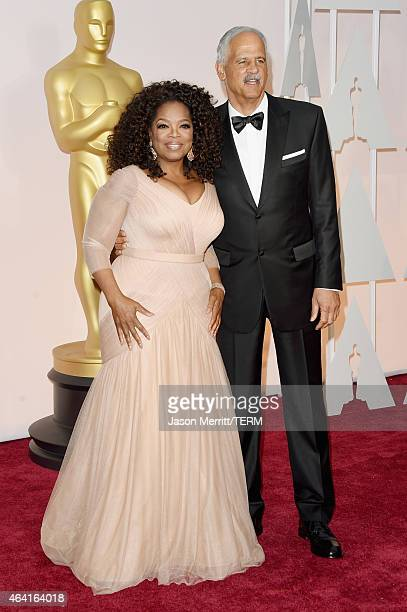 Oprah Winfrey and Stedman Graham attend the 87th Annual Academy Awards at Hollywood & Highland Center on February 22, 2015 in Hollywood, California.