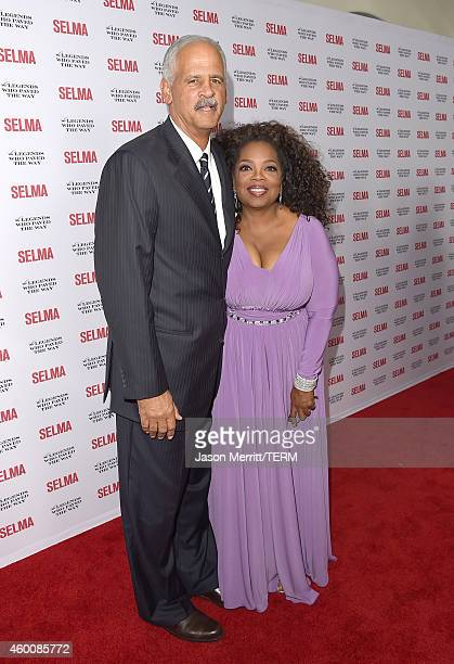 Oprah Winfrey and Stedman Graham attend the 'Selma' and the Legends Who Paved the Way Gala at Bacara Resort on December 6 2014 in Goleta California