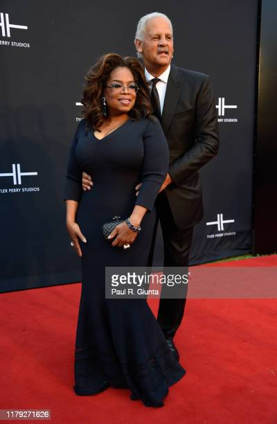 Oprah Winfrey and Stedman Graham attend Tyler Perry Studios grand opening gala at Tyler Perry Studios on October 05, 2019 in Atlanta, Georgia.