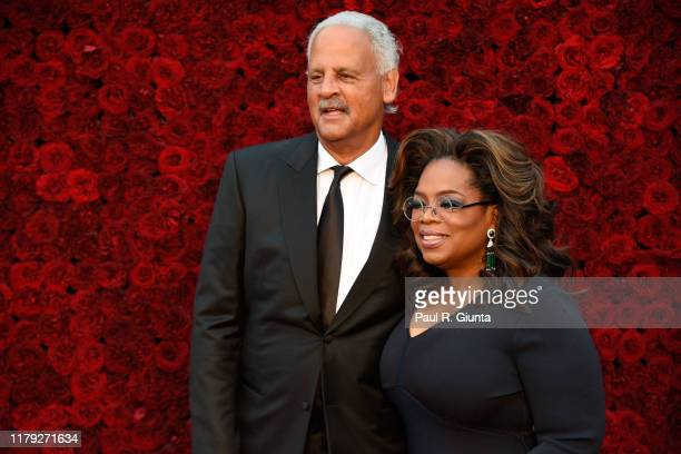 Oprah Winfrey and Stedman Graham attend Tyler Perry Studios grand opening gala at Tyler Perry Studios on October 05 2019 in Atlanta Georgia