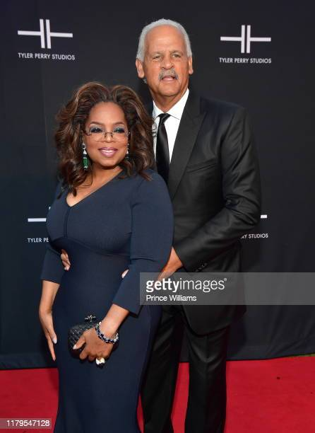 Oprah Winfrey and Stedman Graham attend Tyler Perry Studios Grand Opening Gala - Arrivals at Tyler Perry Studios on October 5, 2019 in Atlanta,...