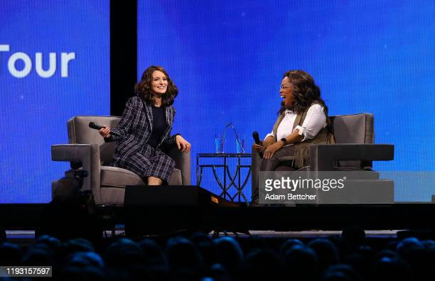 Oprah Winfrey and Tina Fey have a conversation during Oprah's 2020 Vision: Your Life in Focus Tour presented by WW at Xcel Energy Center on January...