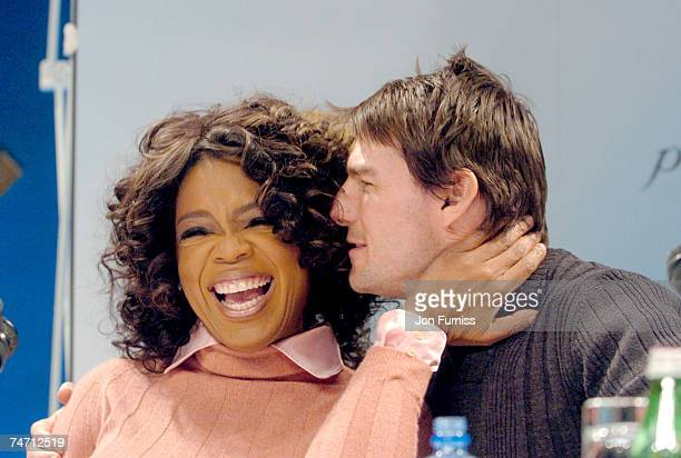 Oprah Winfrey and Tom Cruise at the Radisson Plaza Hotel in Oslo Norway