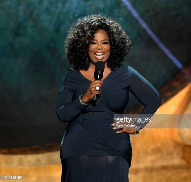 Oprah Winfrey appears onstage at Q85 A Musical Celebration for Quincy Jones at the Microsoft Theatre on September 25 2018 in Los Angeles California