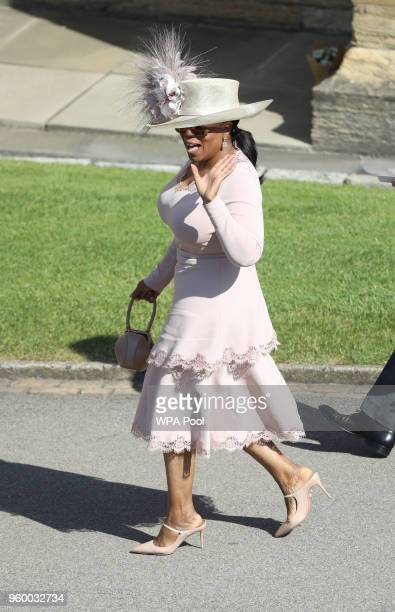 Oprah Winfrey arrives at St George's Chapel Windsor Castle for the wedding of Megan Markle and Prince Harry at St George's Chapel Windsor Castle on...
