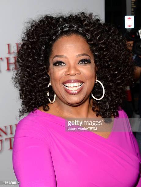 Oprah Winfrey arrives at the premiere of The Weinstein Company's 'Lee Daniels' The Butler' at Regal Cinemas LA Live on August 12 2013 in Los Angeles...