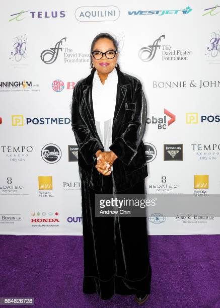Oprah Winfrey arrives for the David Foster Foundation Gala at Rogers Arena on October 21 2017 in Vancouver Canada