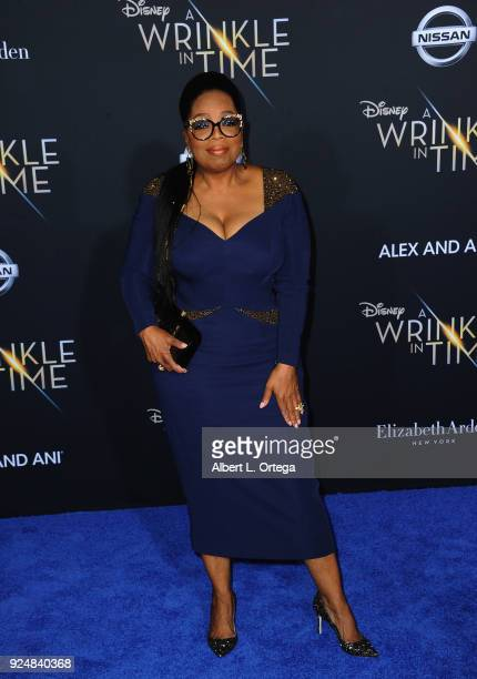 Oprah Winfrey arrives for the Premiere Of Disney's 'A Wrinkle In Time' held at the El Capitan Theatre on February 26 2018 in Los Angeles California