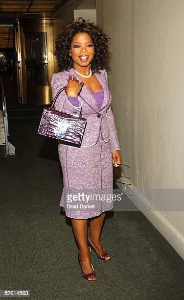 Oprah Winfrey arrives to the 2005 Matrix Awards outside the WaldorfAstoria Hotel on April 11 2005 in New York