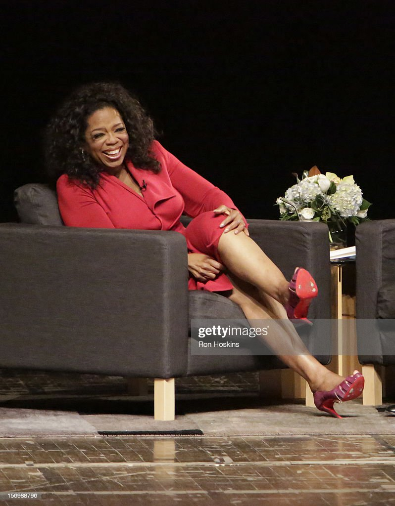 Oprah Winfrey attends 'A Conversation With David Letterman And Oprah Winfrey' at Ball State University on November 26, 2012 in Muncie, Indiana.