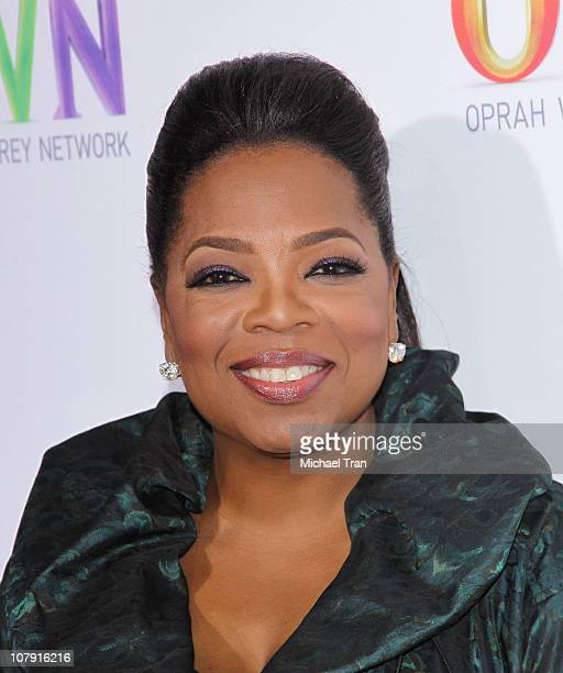Oprah Winfrey attends the 2011 TCA Winter Press Tour OWN Oprah Winfrey Network cocktail reception held at The Langham Huntington Hotel and Spa on...