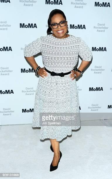Oprah Winfrey attends the 2018 MoMA David Rockefeller Award Luncheon Honoring Oprah at The Ziegfeld Ballroom on March 6 2018 in New York City