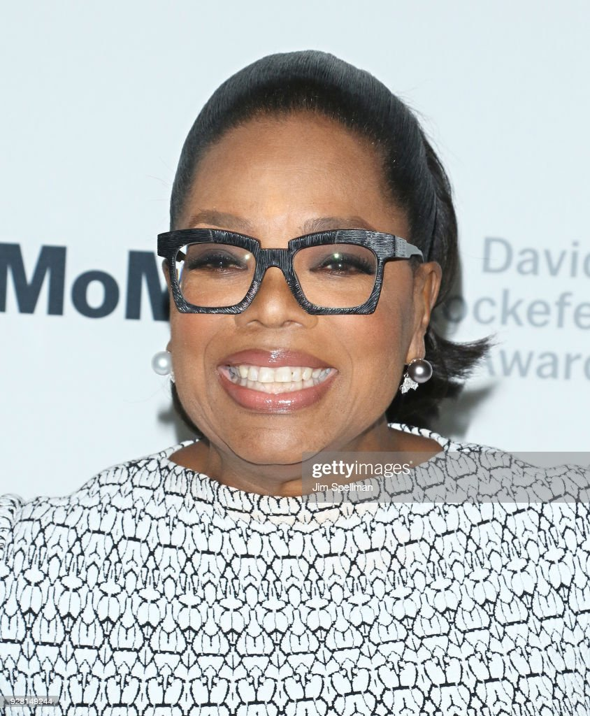 Oprah Winfrey attends the 2018 MoMA David Rockefeller Award Luncheon Honoring Oprah at The Ziegfeld Ballroom on March 6, 2018 in New York City.
