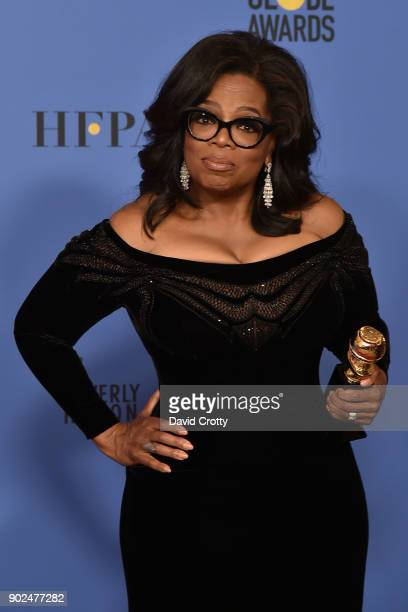 Oprah Winfrey attends the 75th Annual Golden Globe Awards Press Room at The Beverly Hilton Hotel on January 7 2018 in Beverly Hills California