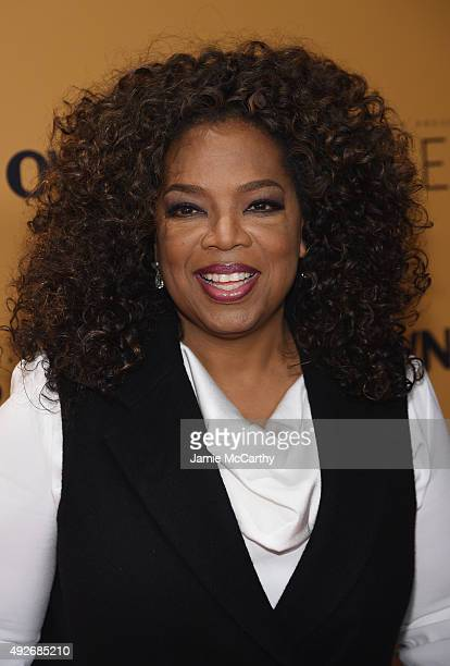 Oprah Winfrey attends the 'Belief' New York premiere at TheTimesCenter on October 14 2015 in New York City
