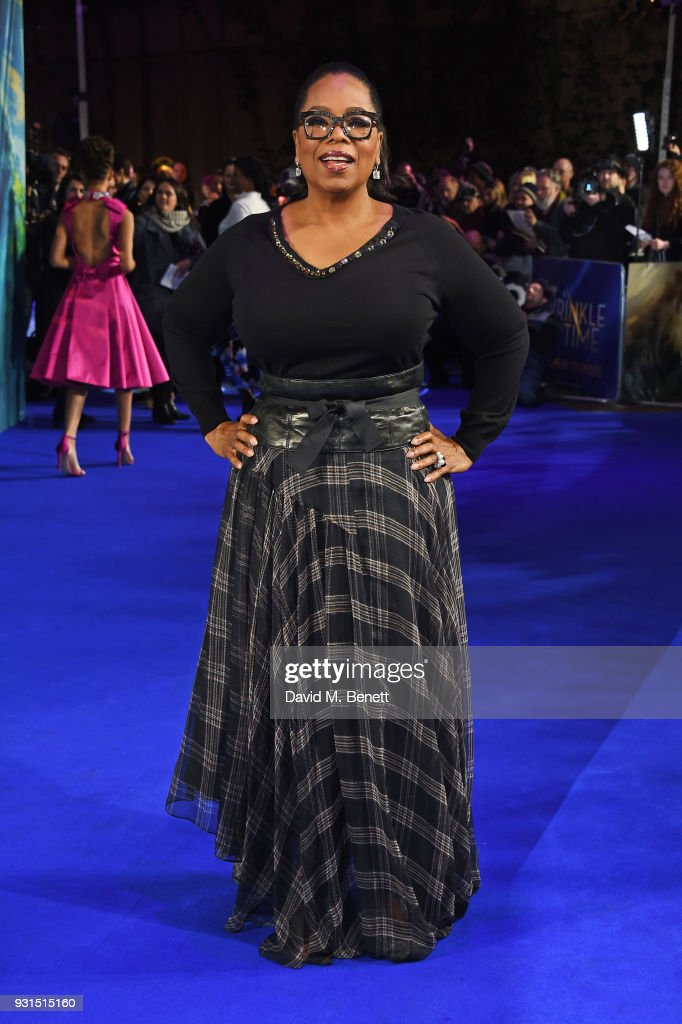 Oprah Winfrey attends the European Premiere of 'A Wrinkle In Time' at the BFI IMAX on March 13, 2018 in London, England.