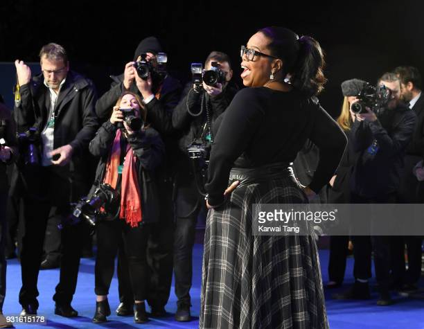 Oprah Winfrey attends the European Premiere of 'A Wrinkle In Time' at BFI IMAX on March 13, 2018 in London, England.