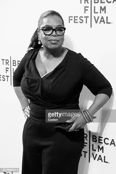 Oprah Winfrey attends the 'Greenleaf' screening during 2016 Tribeca Film Festival at John Zuccotti Theater at BMCC Tribeca Performing Arts Center on...