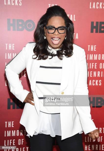 Oprah Winfrey attends 'The Immortal Life of Henrietta Lacks' premiere at SVA Theater on April 18 2017 in New York City
