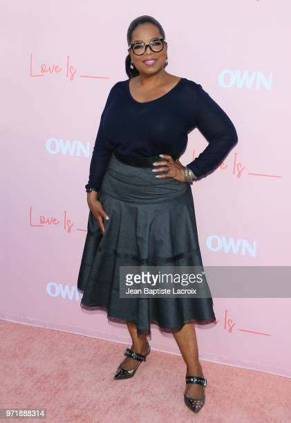 Oprah Winfrey attends the Los Angeles premiere of OWN's 'Love Is_' held at NeueHouse Hollywood on June 11 2018 in Los Angeles California