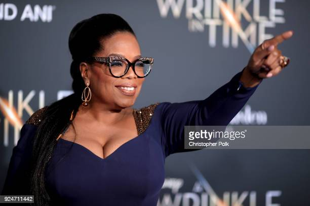 Oprah Winfrey attends the premiere of Disney's 'A Wrinkle In Time' at the El Capitan Theatre on February 26 2018 in Los Angeles California