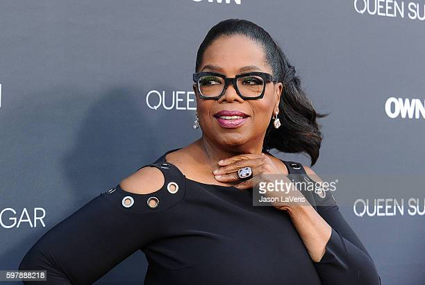 Oprah Winfrey attends the premiere of 'Queen Sugar' at Warner Bros Studios on August 29 2016 in Burbank California