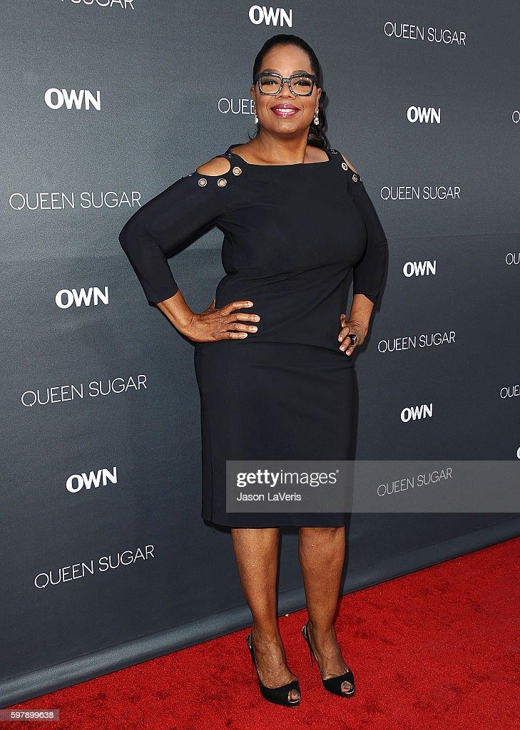 Oprah Winfrey attends the premiere of 'Queen Sugar' at Warner Bros. Studios on August 29, 2016 in Burbank, California.