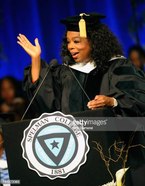 Oprah Winfrey attends the Spelman College Commencement at Georgia International Convention Center on May 20 2012 in College Park Georgia