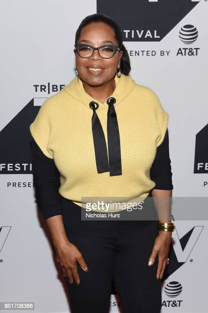 Oprah Winfrey attends the Tribeca TV Festival series premiere of Released at Cinepolis Chelsea on September 22 2017 in New York City