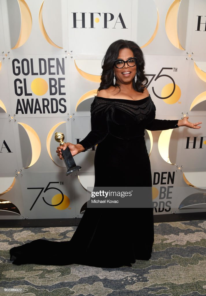 Oprah Winfrey celebrates The 75th Annual Golden Globe Awards with Moet & Chandon at The Beverly Hilton Hotel on January 7, 2018 in Beverly Hills, California.